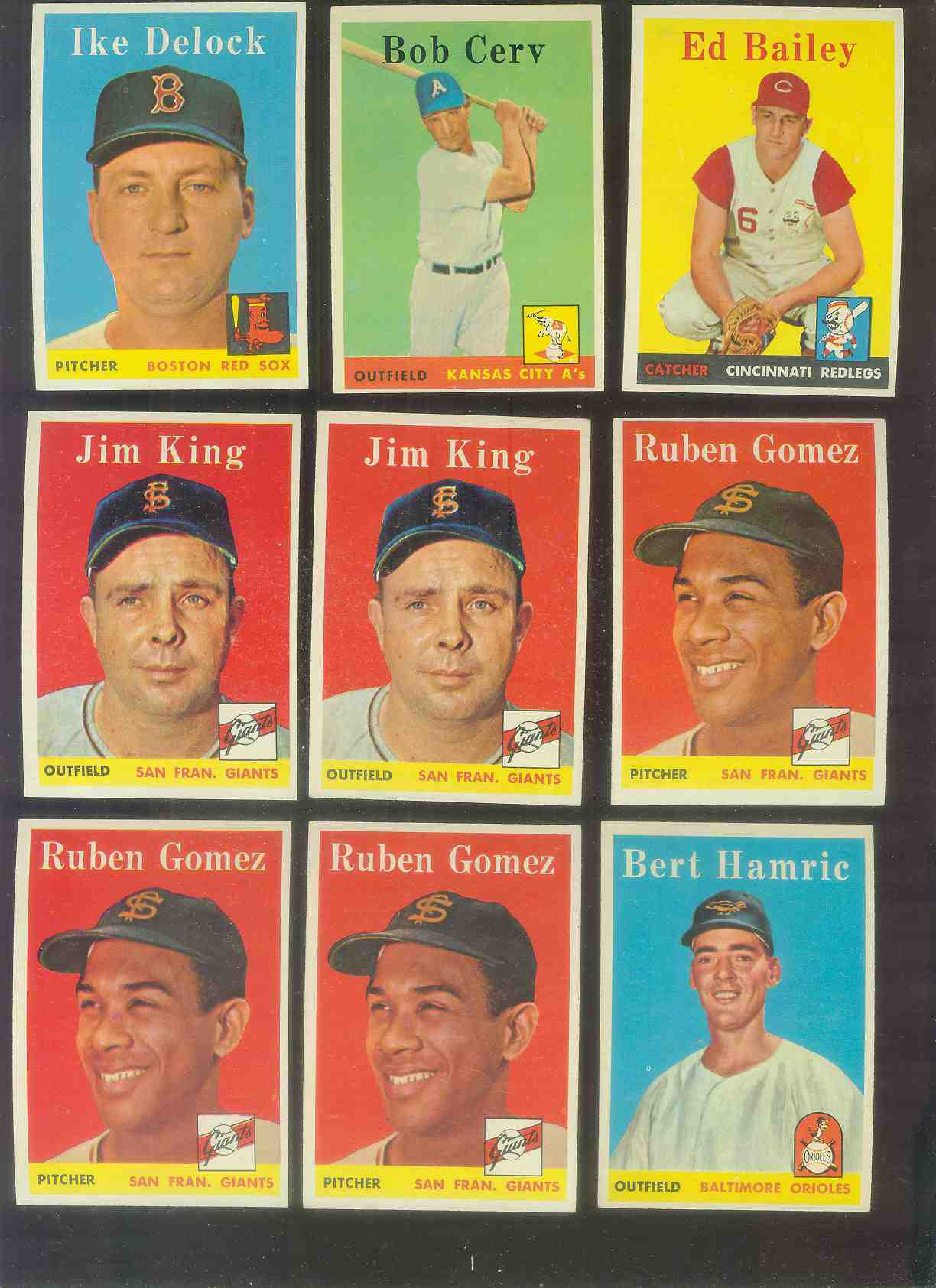 1958 Topps #335 Ruben Gomez (Giants) Baseball cards value