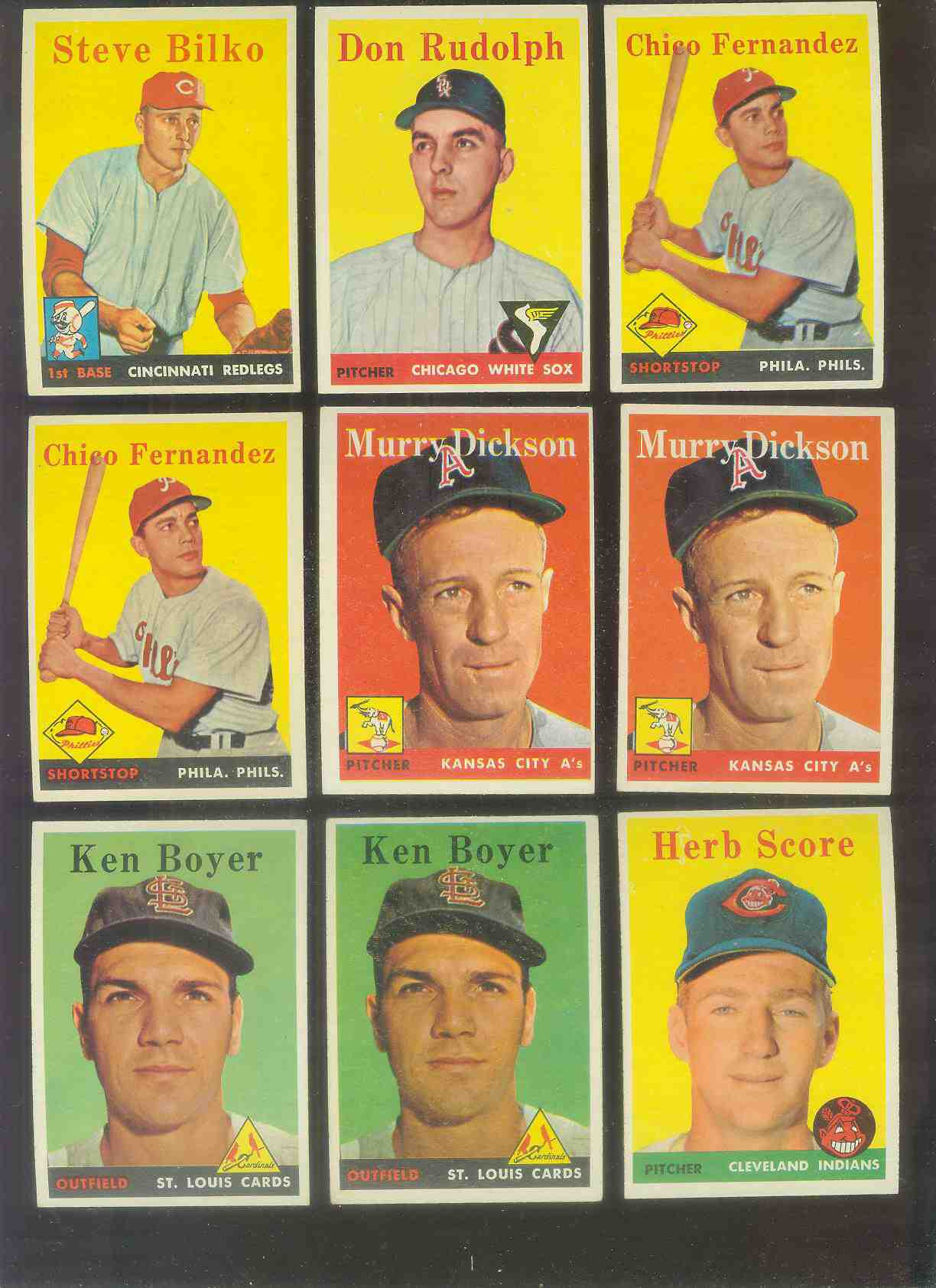 1958 Topps #350 Ken Boyer [#x] (Cardinals) Baseball cards value