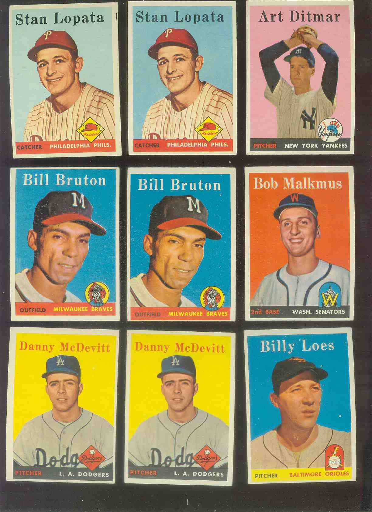 1958 Topps #357 Danny McDevitt (Dodgers) Baseball cards value