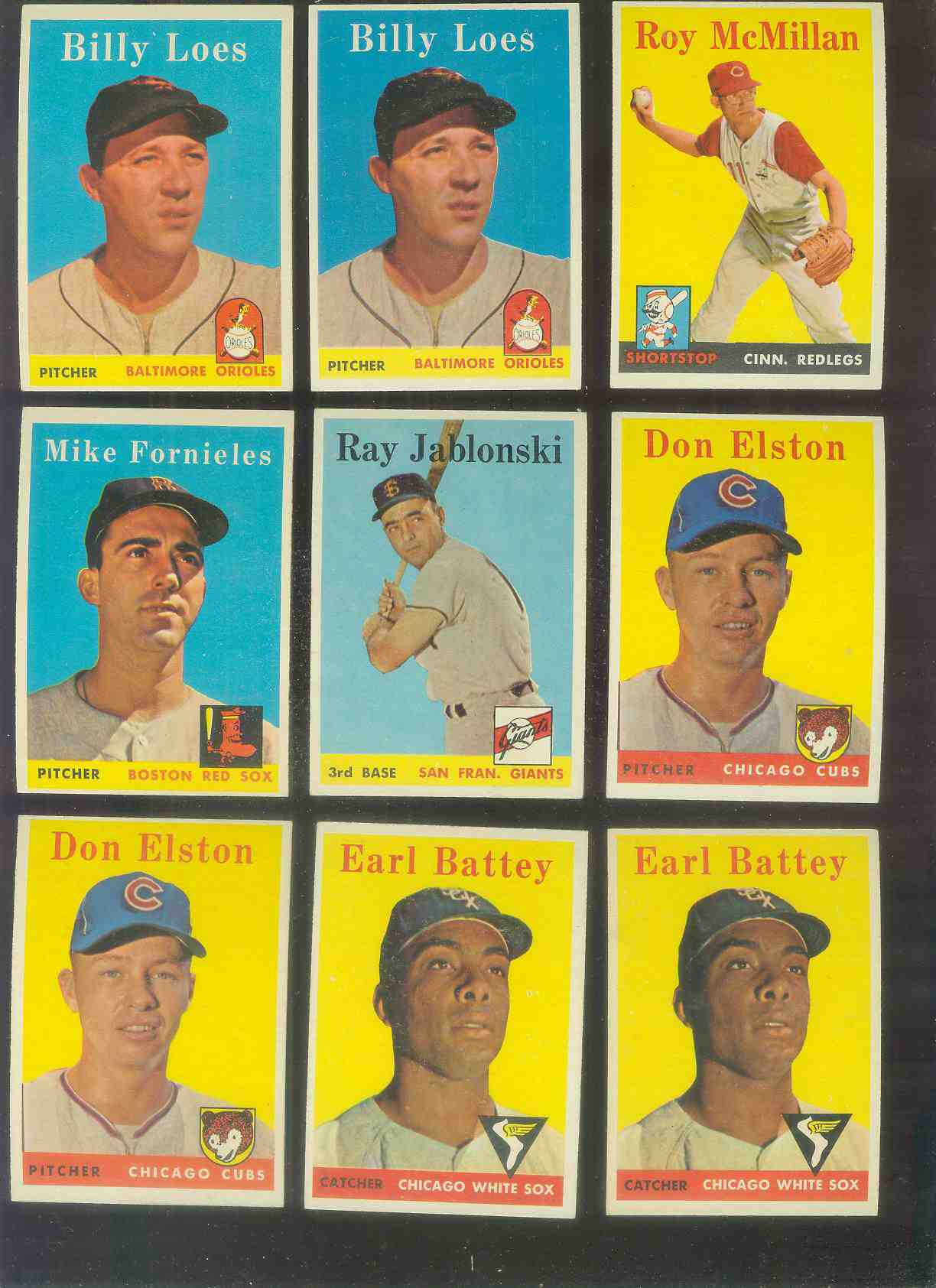 1958 Topps #364 Earl Battey (White Sox) Baseball cards value