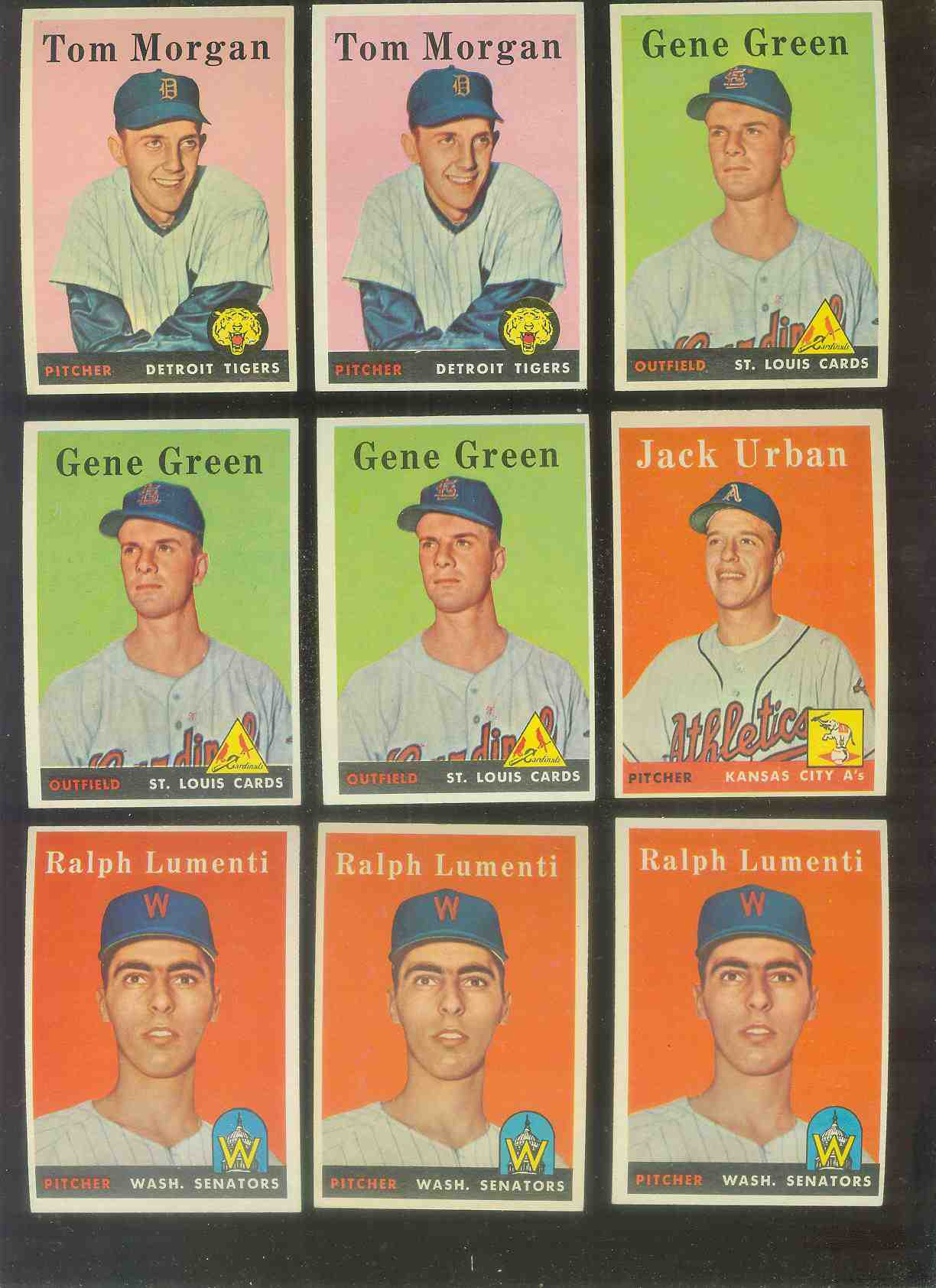 1958 Topps #366 Gene Green (Cardinals) Baseball cards value