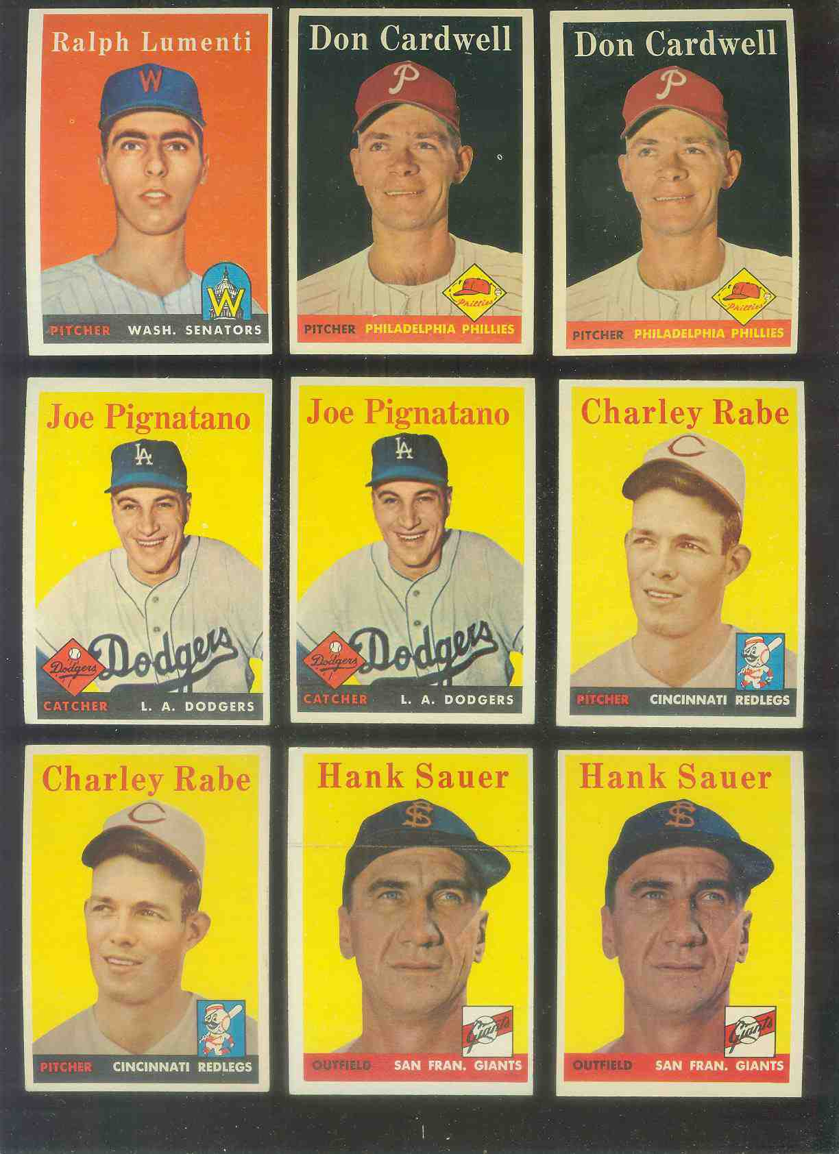 1958 Topps #378 Hank Sauer (Giants) Baseball cards value