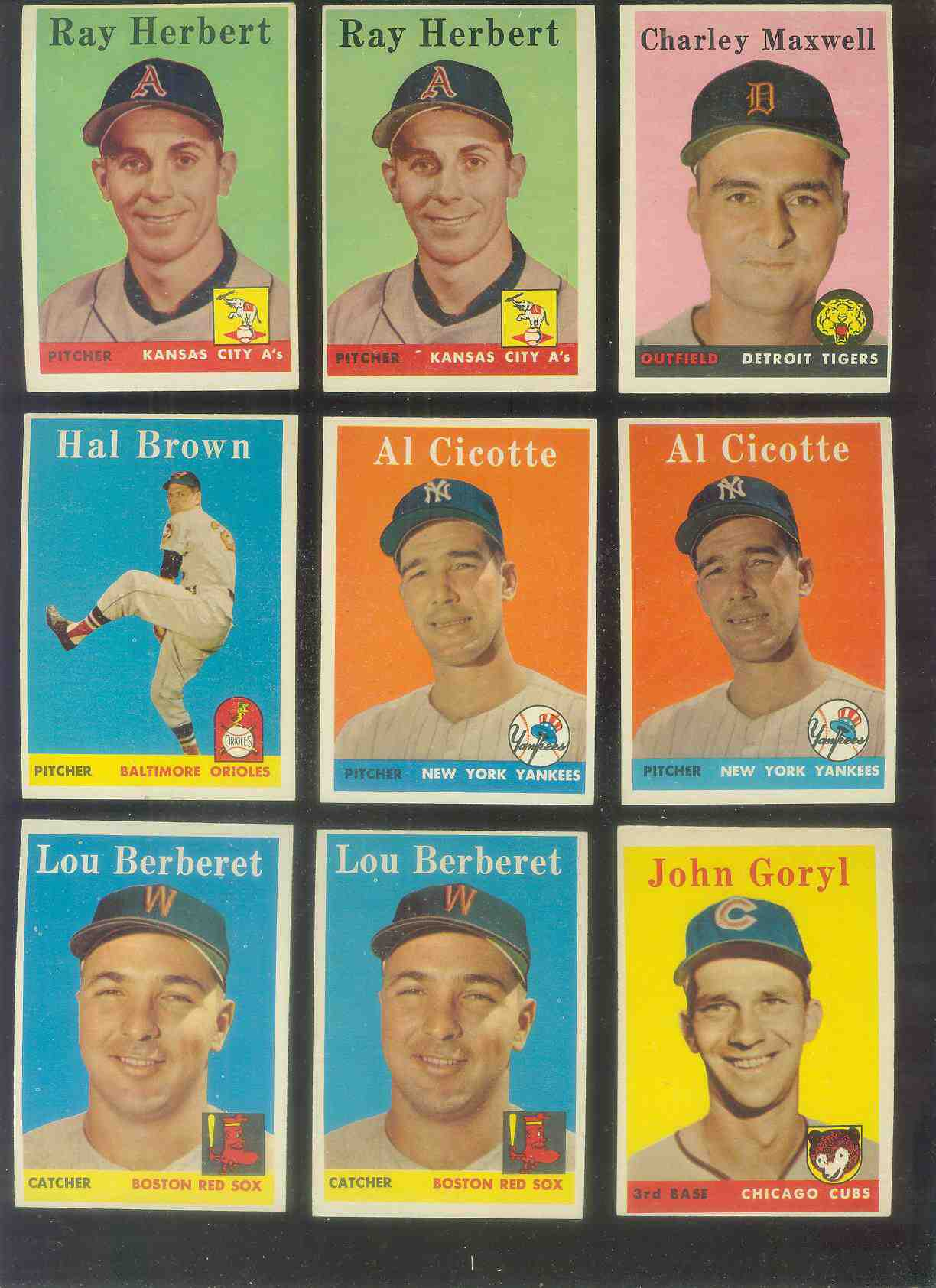1958 Topps #383 Lou Berberet (Red Sox) Baseball cards value