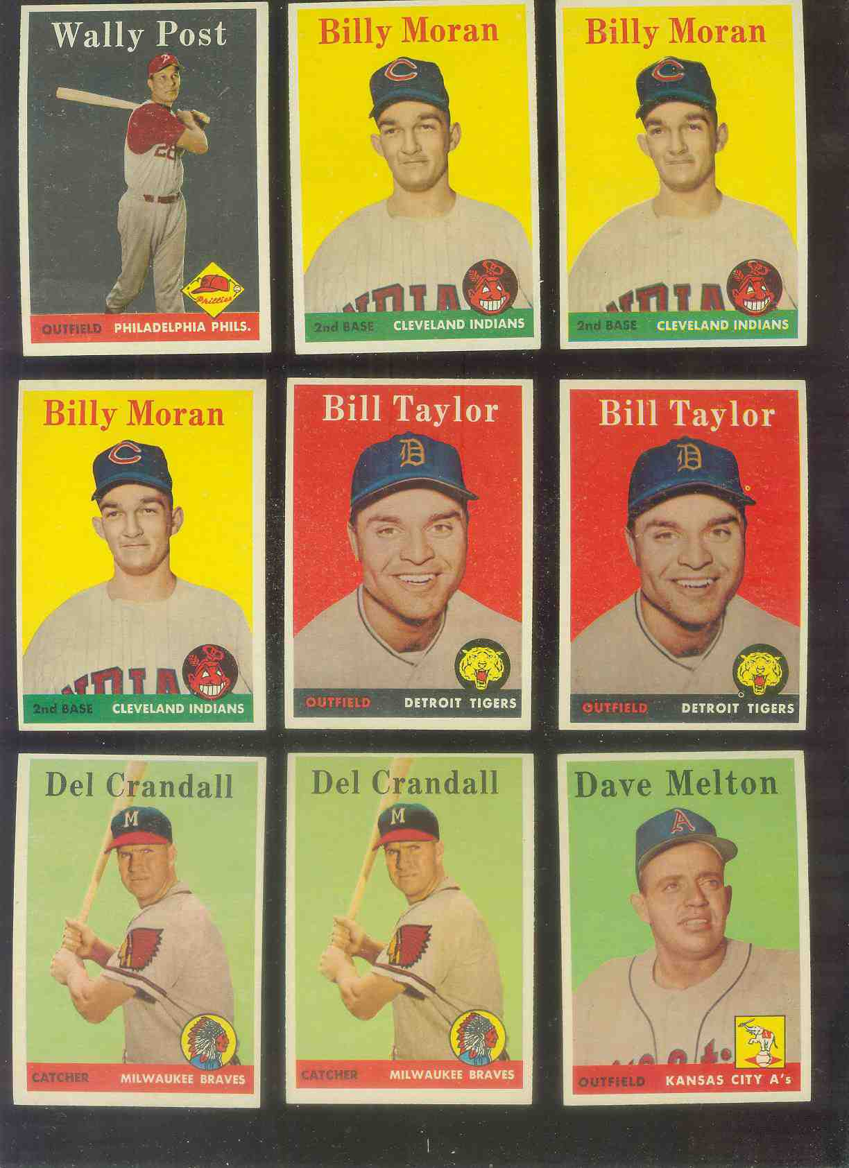 1958 Topps #388 Billy Moran (Indians) Baseball cards value