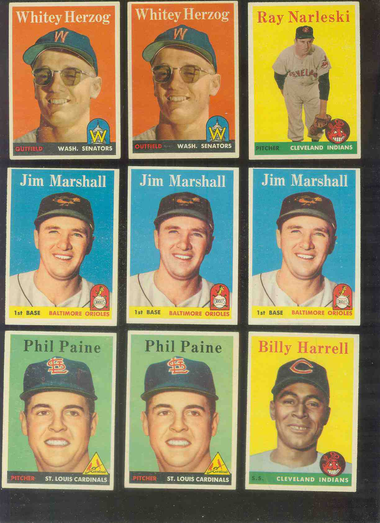 1958 Topps #441 Jim Marshall (Orioles) Baseball cards value