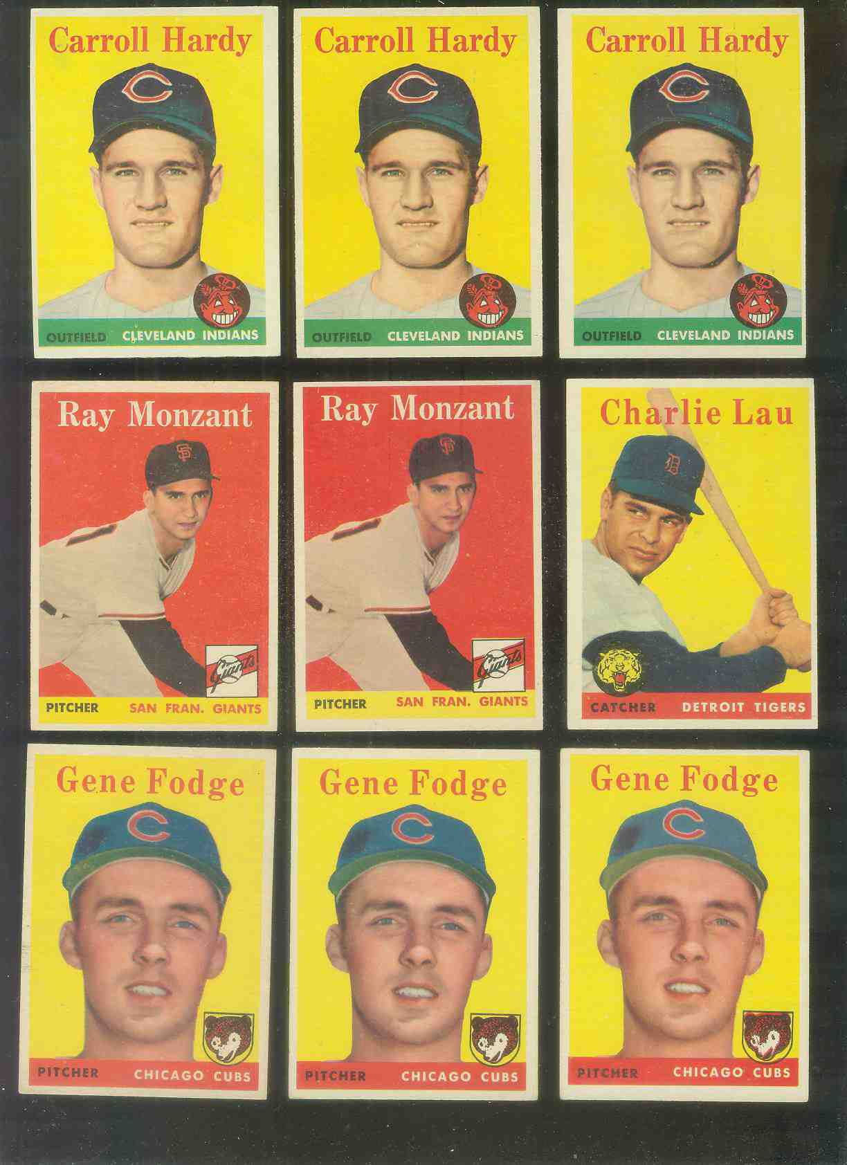 1958 Topps #446 Carroll Hardy SCARCE SHORT PRINT (Indians) Baseball cards value