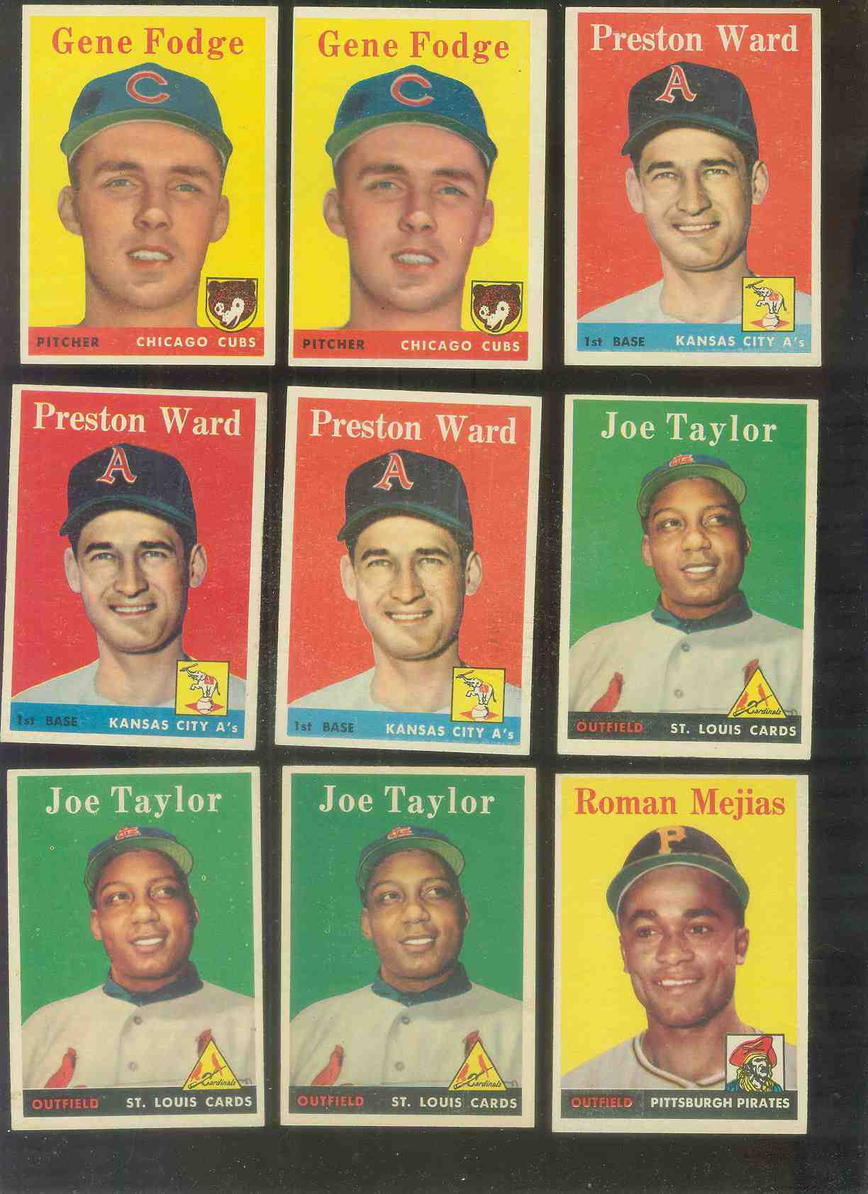 1958 Topps #451 Joe Taylor (Cardinals) Baseball cards value