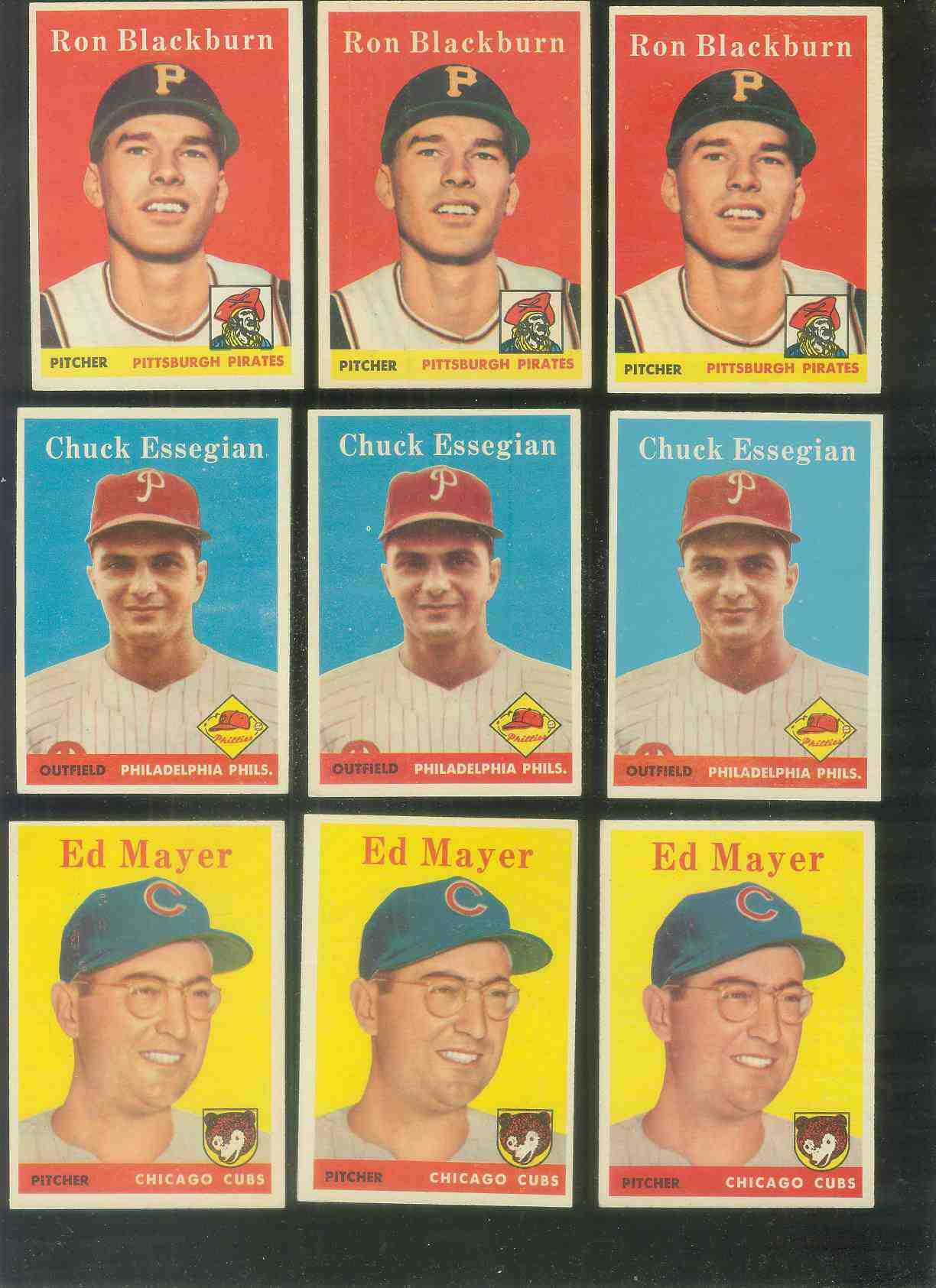 1958 Topps #459 Ron Blackburn (Pirates) Baseball cards value