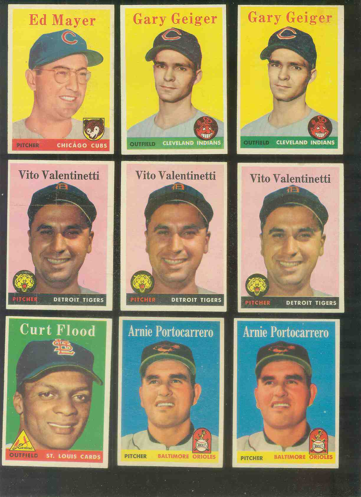 1958 Topps #465 Arnie Portocarrero (Orioles) Baseball cards value