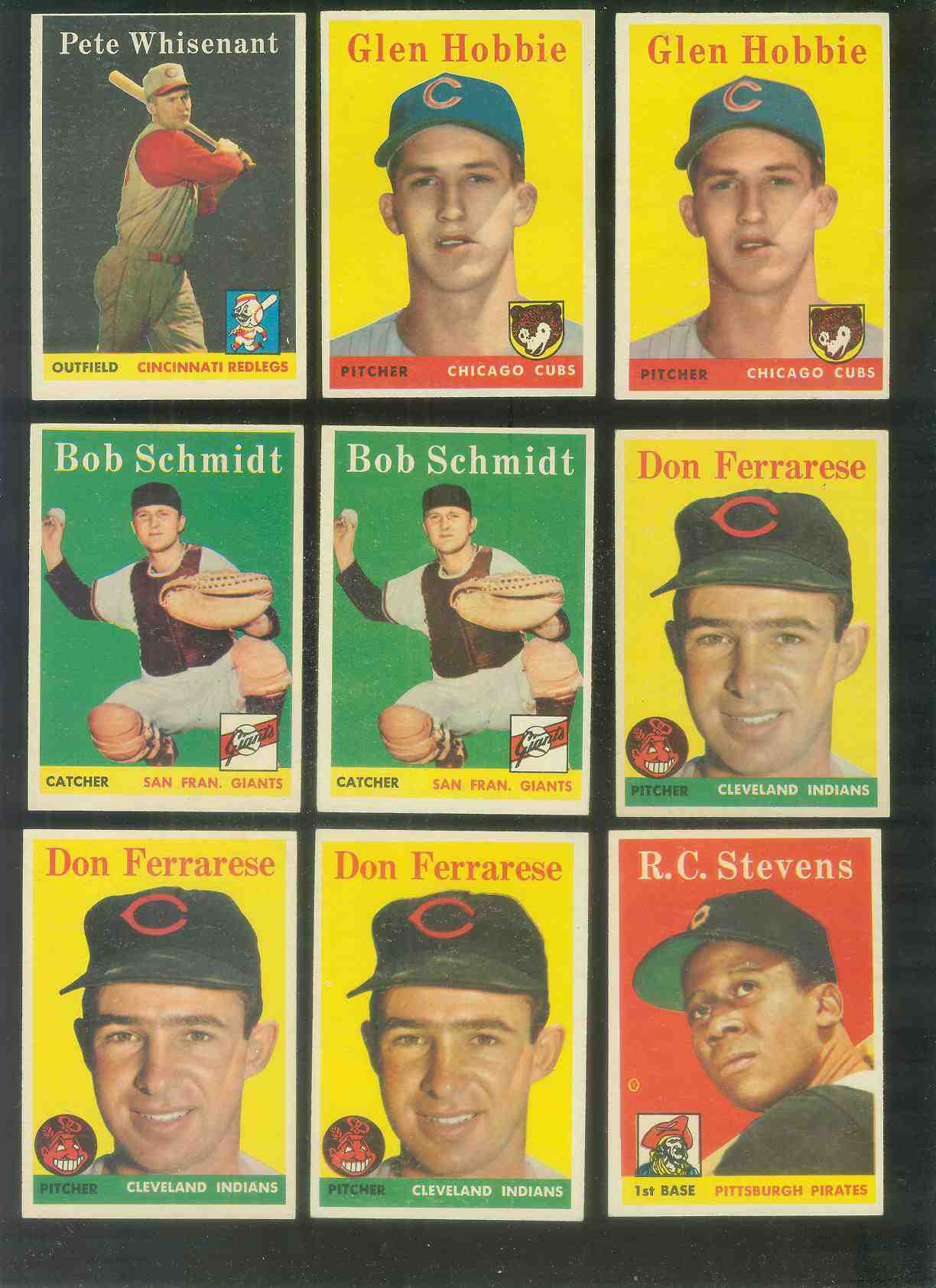 1958 Topps #468 Bob Schmidt (Giants) Baseball cards value