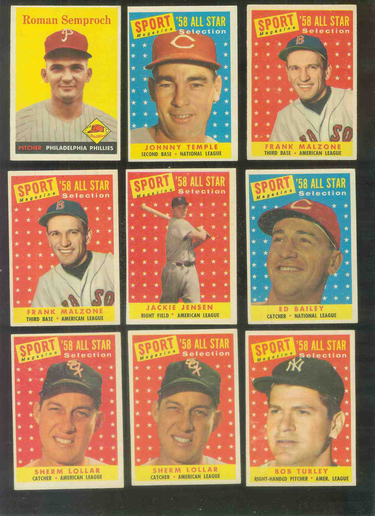 1958 Topps #493 Bob Turley All-Star (Yankees) Baseball cards value