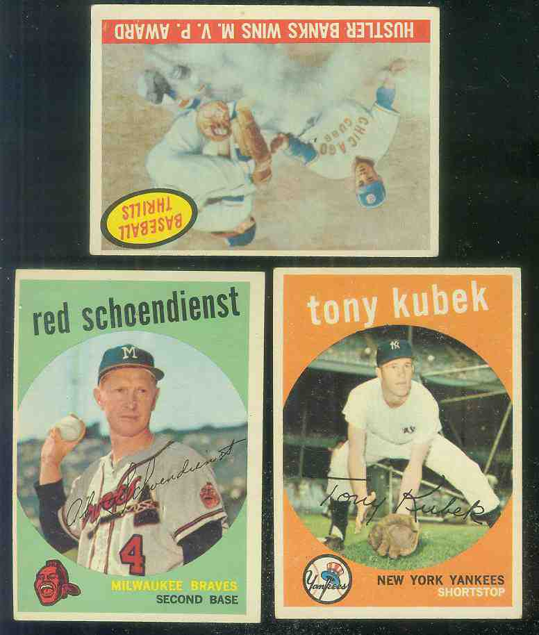 1959 Topps #505 Tony Kubek [#x] (Yankees) Baseball cards value