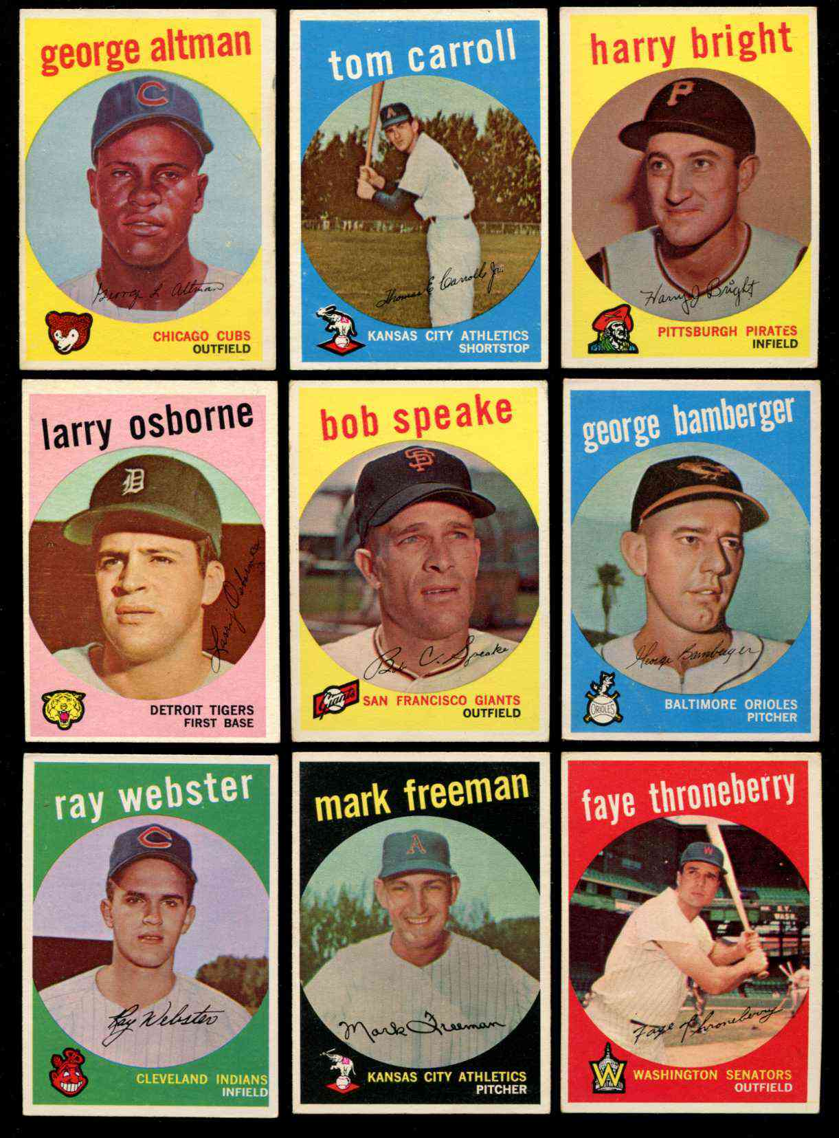 1959 Topps #524 Larry Osborne SCARCE HIGH #.[#g] (Tigers) Baseball cards value