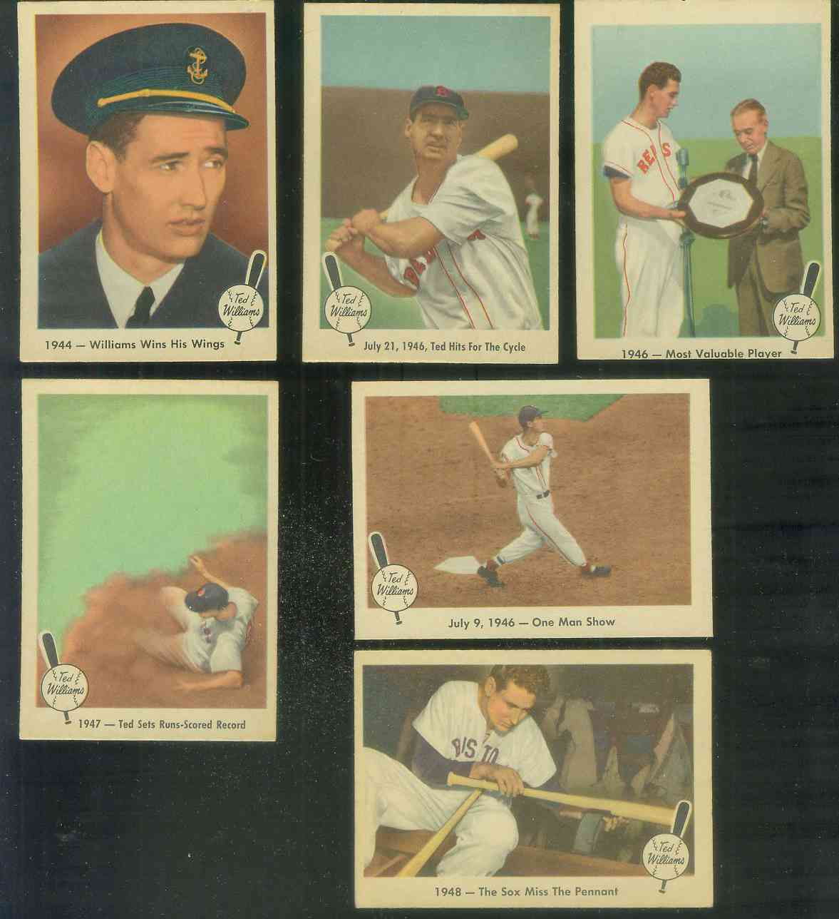 1959 Fleer Ted Williams #23 'Williams Wins Wings' (Red Sox) Baseball cards value