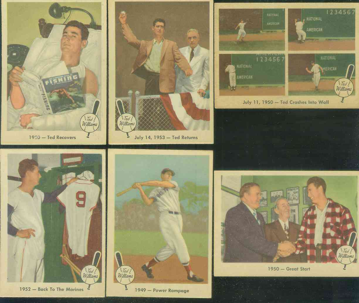 1959 Fleer Ted Williams #40 '1950 - Ted Crashes into Wall' (Red Sox) Baseball cards value