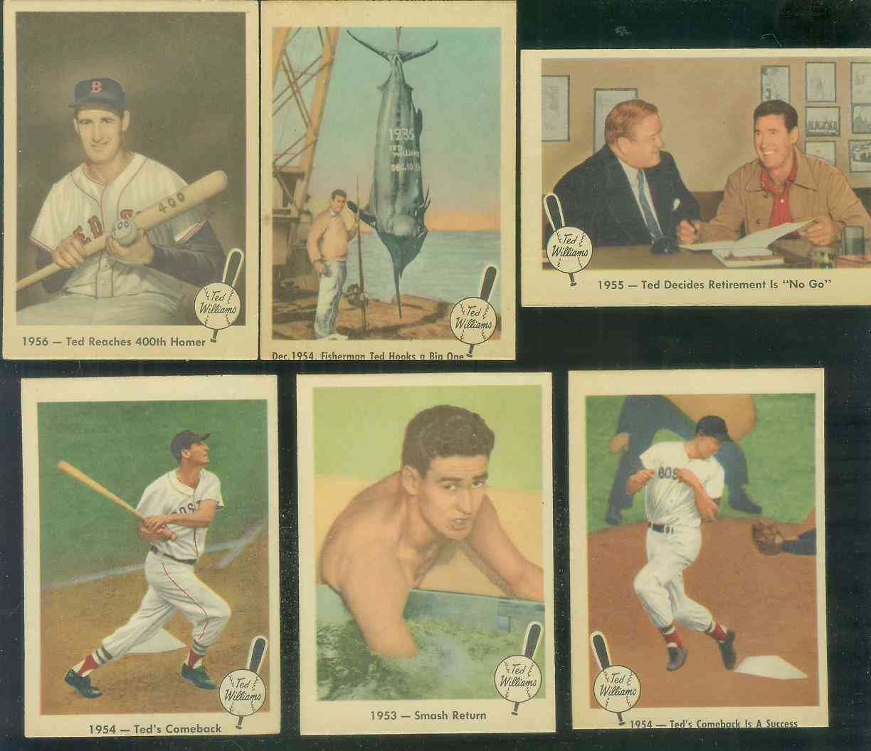 1959 Fleer Ted Williams #55 'Retirement No Go' (Red Sox) Baseball cards value
