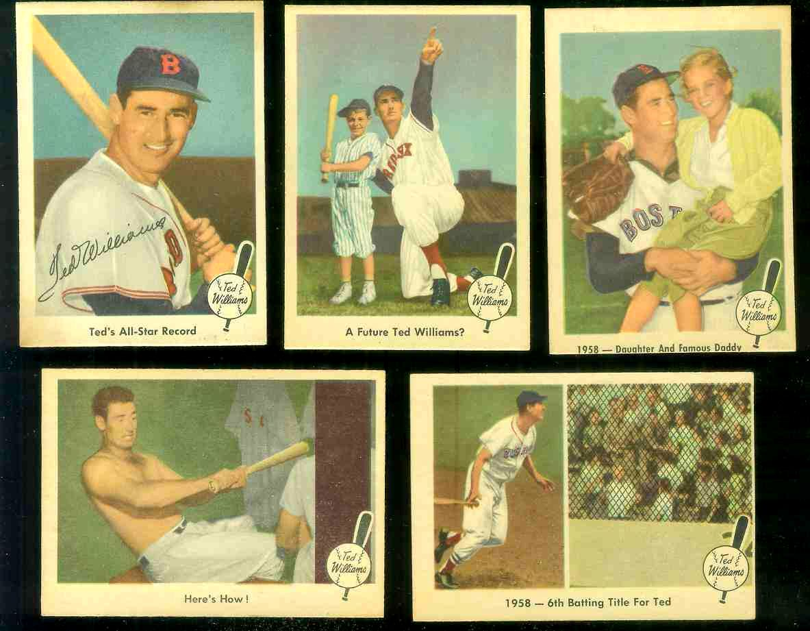 1959 Fleer Ted Williams #63 'Ted's All-Star Record' (Red Sox) Baseball cards value