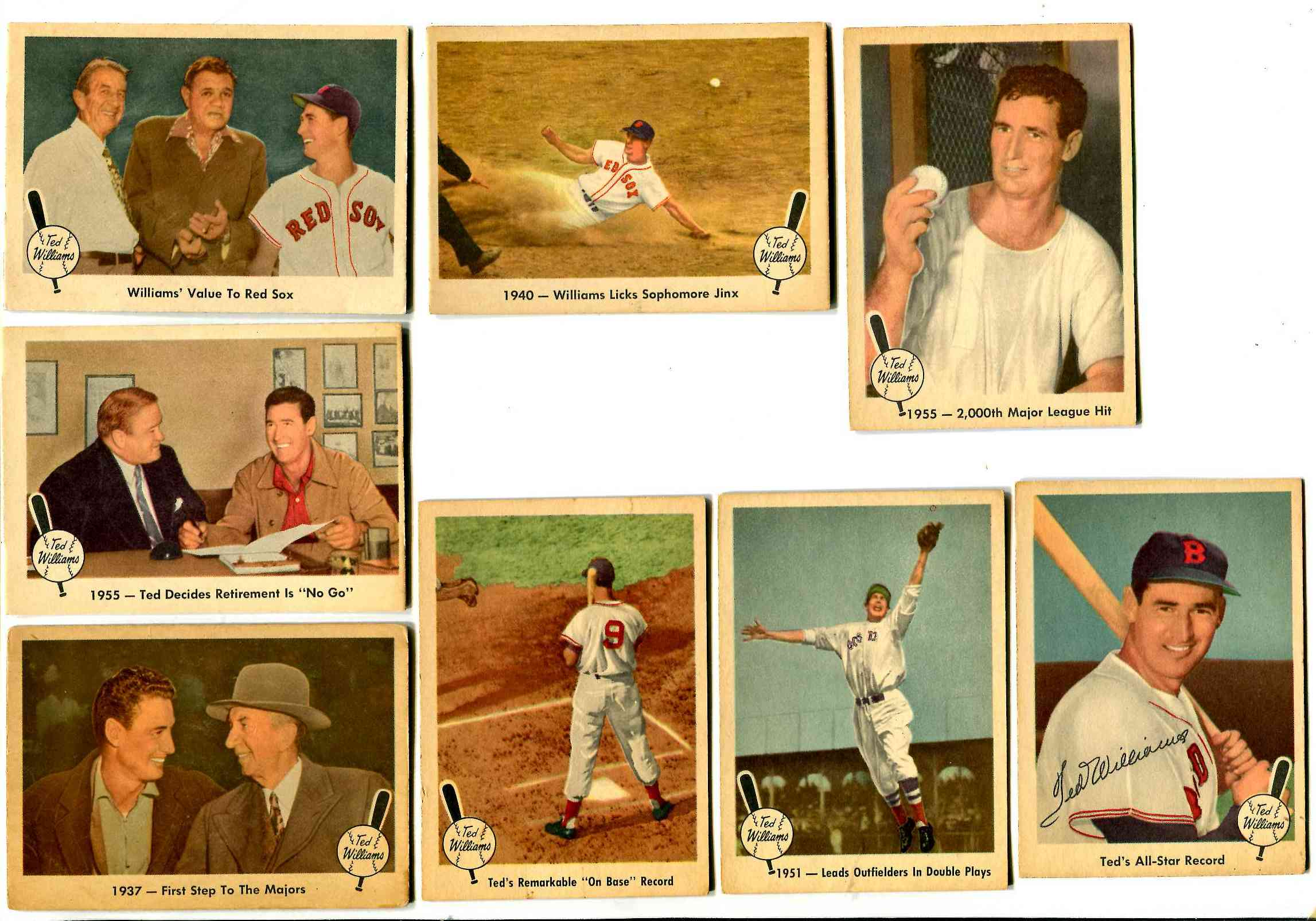 1959 Fleer Ted Williams #15 '1940 - Licks Sophomore Jinx' [#x] (Red Sox) Baseball cards value
