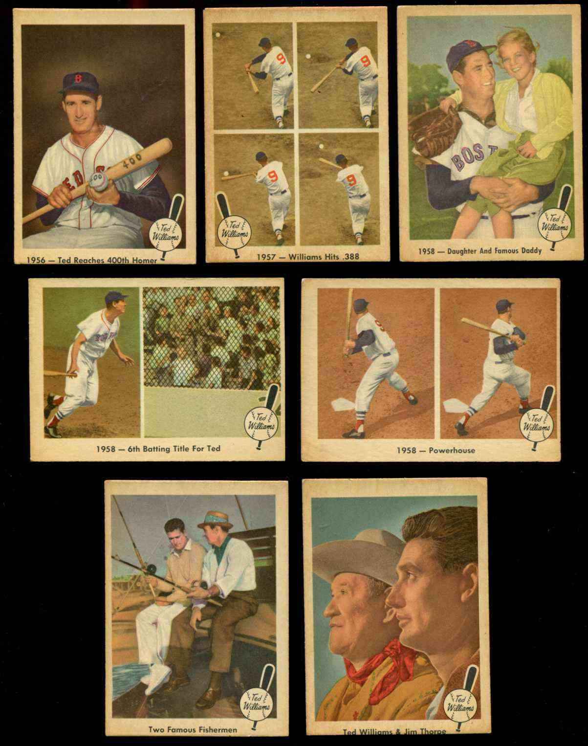 1959 Fleer Ted Williams #67 w/Sam Snead 'Two Famous Fishermen' [#x] Baseball cards value