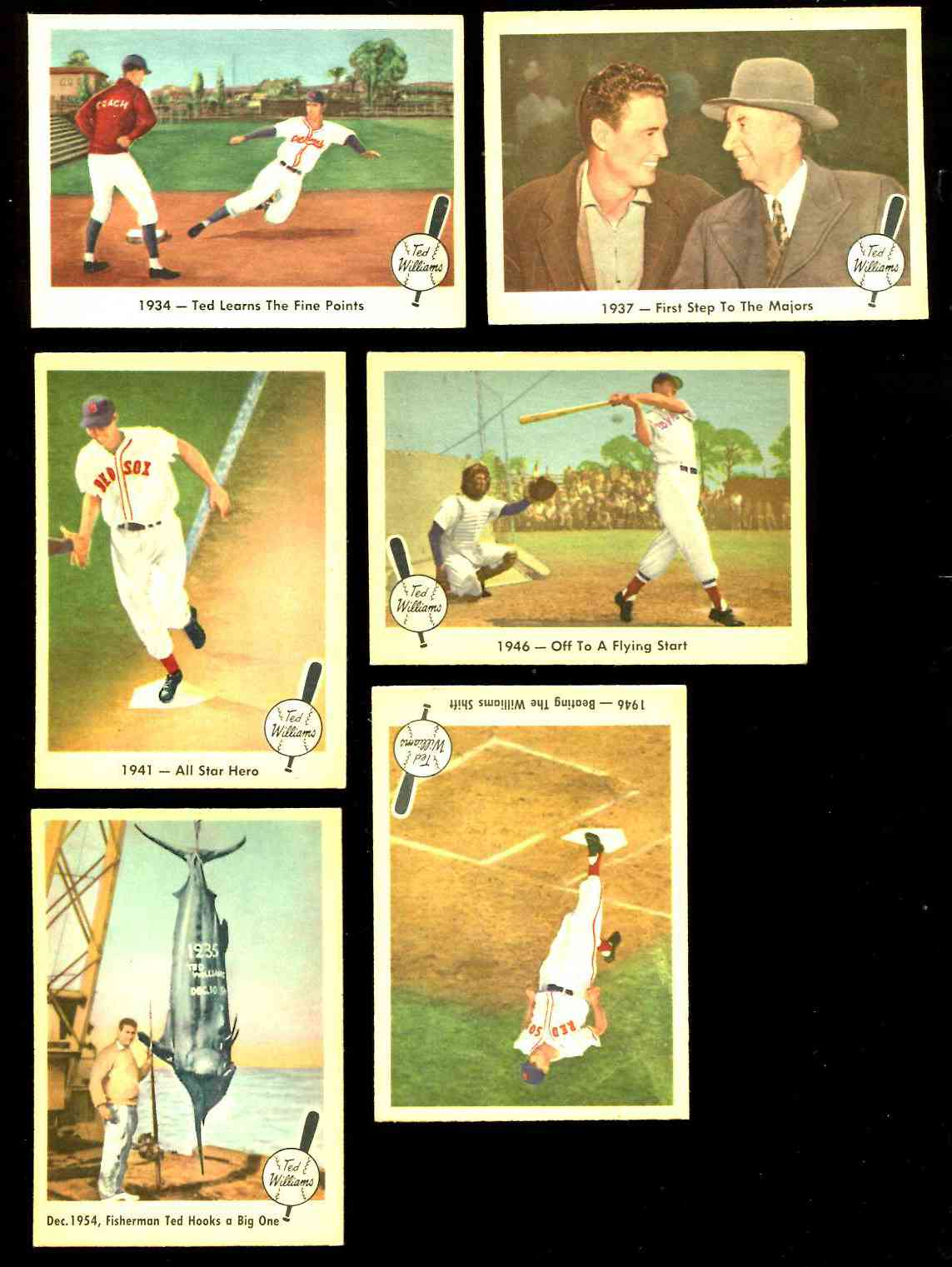 1959 Fleer Ted Williams # 4 '1934 - Ted Learns the Fine Points' (Red Sox) Baseball cards value