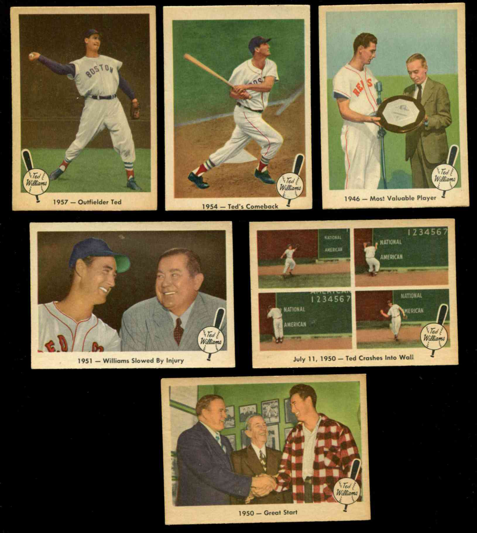 1959 Fleer Ted Williams #61 '1957 - Outfielder Ted' [#x] (Red Sox) Baseball cards value