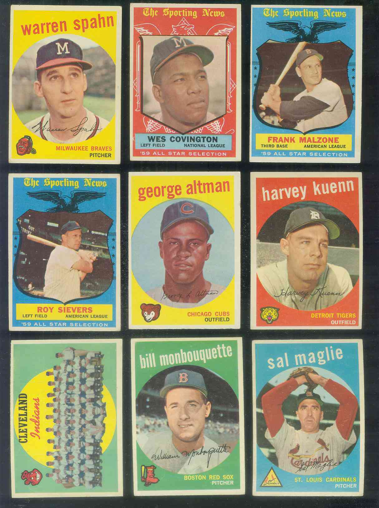 1959 Topps #476 Indians TEAM card (Checklist on back unmarked !!!) Baseball cards value
