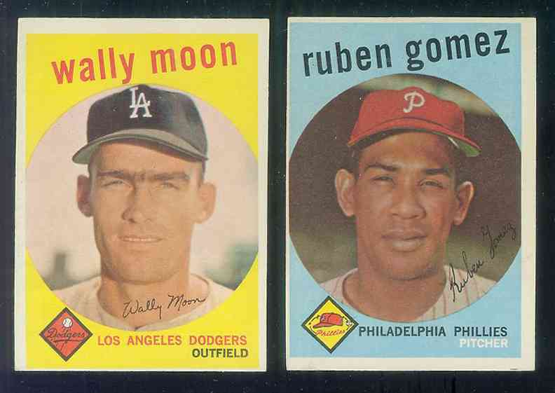 1959 Topps #530 Wally Moon SCARCE HIGH #.(Dodgers) Baseball cards value