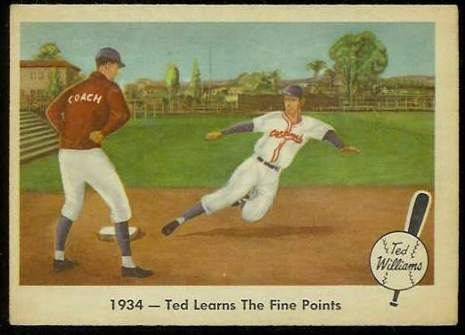 1959 Fleer Ted Williams #.4 'Learns Fine Points' (Red Sox) Baseball cards value