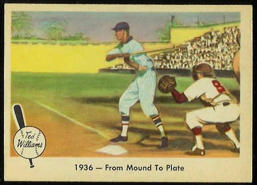 1959 Fleer Ted Williams #.7 'From Mound to Plate' [#b] (Red Sox) Baseball cards value