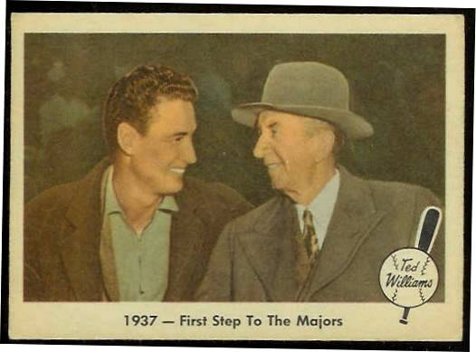 1959 Fleer Ted Williams #.9 w/Eddie Collins 'First Step to Majors' (Red Sox Baseball cards value