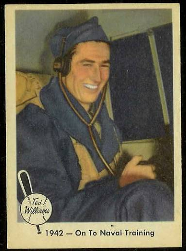 1959 Fleer Ted Williams #20 'On to Naval Training' (Red Sox) Baseball cards value