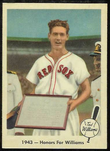1959 Fleer Ted Williams #21 '1943 - Honors for Williams' [#b] (Red Sox) Baseball cards value