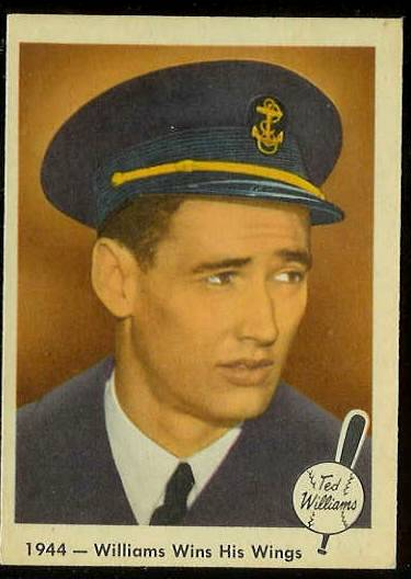 1959 Fleer Ted Williams #23 'Williams Wins Wings' [#c] (Red Sox) Baseball cards value