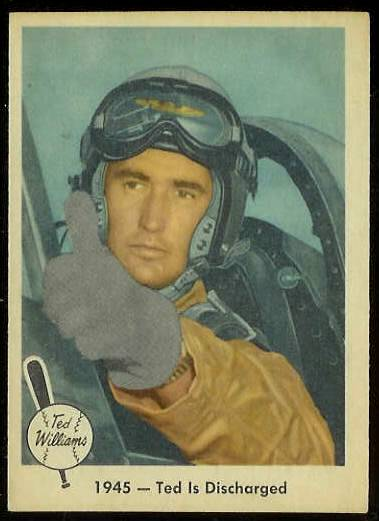1959 Fleer Ted Williams #25 '1945 Ted Discharged' (Red Sox) Baseball cards value