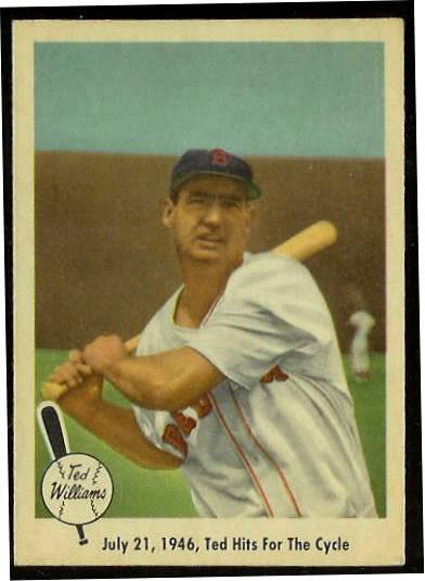 1959 Fleer Ted Williams #29 'Ted Hits for Cycle' (Red Sox) Baseball cards value