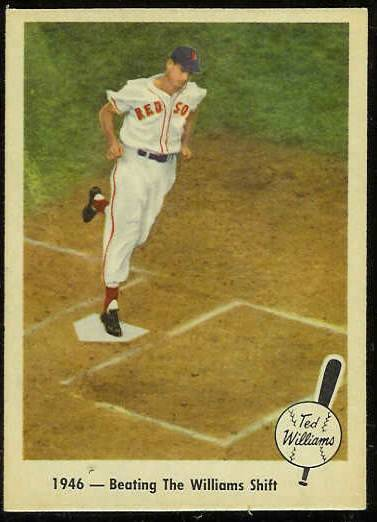 1959 Fleer Ted Williams #30 'Beating Williams Shift' [#a] (Red Sox) Baseball cards value