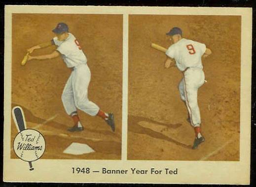 1959 Fleer Ted Williams #36 'Banner Year for Ted' (Red Sox) Baseball cards value