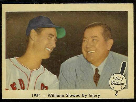 1959 Fleer Ted Williams #42 w/Tom Yawkey 'Slowed by Injury' [#a] (Red Sox) Baseball cards value