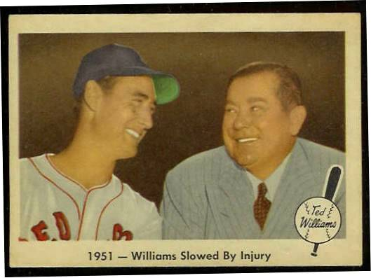 1959 Fleer Ted Williams #42 w/Tom Yawkey 'Slowed by Injury' [#b] (Red Sox) Baseball cards value