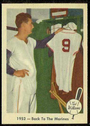 1959 Fleer Ted Williams #44 '1952 - Back to Marines' (Red Sox) Baseball cards value