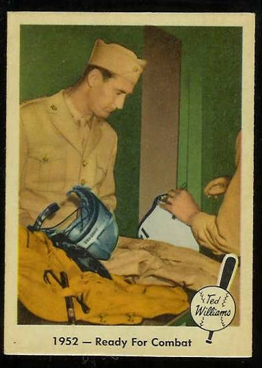 1959 Fleer Ted Williams #46 'Ready for Combat' [#b] (Red Sox) Baseball cards value