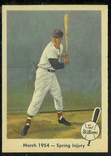 1959 Fleer Ted Williams #50 'March 1954 - Spring Injury' (Red Sox) Baseball cards value