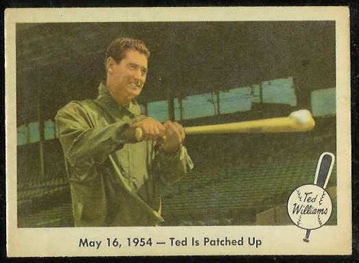 1959 Fleer Ted Williams #51 'Ted is Patched Up' (Red Sox) Baseball cards value