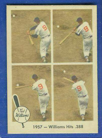 1959 Fleer Ted Williams #58 'Williams Hits .388' [#b] (Red Sox) Baseball cards value