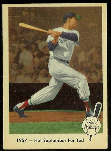 1959 Fleer Ted Williams #59 'Hot September for Ted' (Red Sox) Baseball cards value