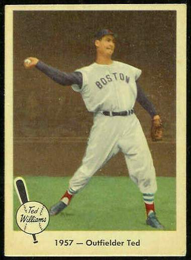 1959 Fleer Ted Williams #61 '1957 Outfielder Ted' [#asc] (Red Sox) Baseball cards value