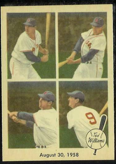 1959 Fleer Ted Williams #65 '1958 August 30' [#a] (Red Sox) Baseball cards value