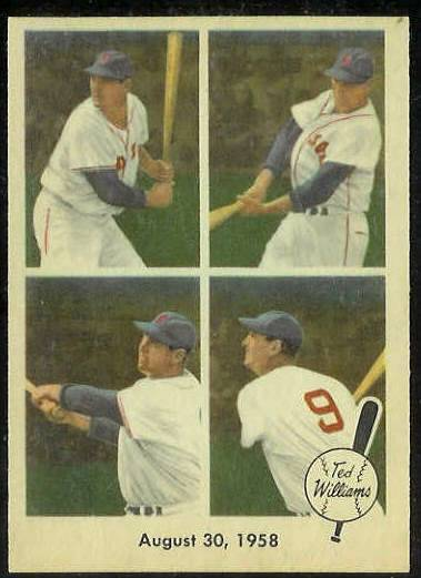 1959 Fleer Ted Williams #65 '1958 August 30' [#b] (Red Sox) Baseball cards value