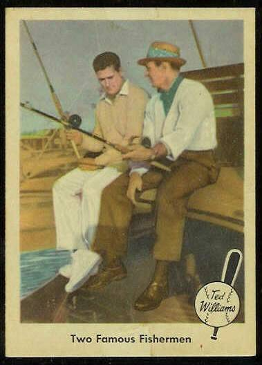 1959 Fleer Ted Williams #67 w/Sam Snead 'Two Famous Fishermen' (Red Sox) Baseball cards value