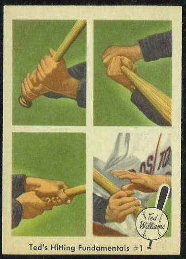 1959 Fleer Ted Williams #71 'Hitting Fundamentals #1' (Red Sox) Baseball cards value